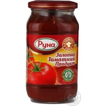 Продукт томатный Руна Золотой томат 490г - купити, ціни на МегаМаркет - фото 1