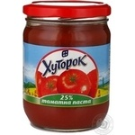 Tomato paste Khutorok tomato 500g glass jar