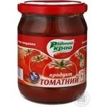 Паста томатна Рідний край 15% 485г