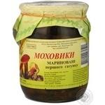 Mushrooms milk mushroom Volyn lis pickled 500g glass jar Ukraine