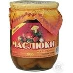 Mushrooms suillus Volyn lis pickled 500g glass jar Ukraine
