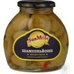 Mushrooms cup mushrooms Sun mille pickled 530g glass jar China