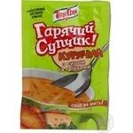 Soup Tetya sonya Hot soupe chicken with croutons 15g Ukraine