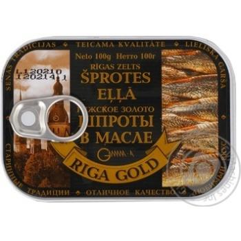 Sprats Ryzhske zoloto in oil 100g can