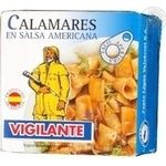 Seafood cuttle-fish Vigilante pickled 80g can Spain