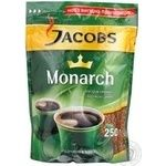 Natural instant sublimated coffee Jacobs Monarch 250g Germany