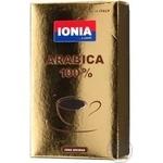 Кофе Иония Арабика 100% натуральный жареный молотый 250г Италия