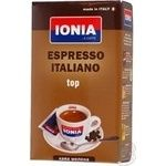 Кофе Иония Эспрессо Итальяно Топ натуральный жареный молотый 250г Италия