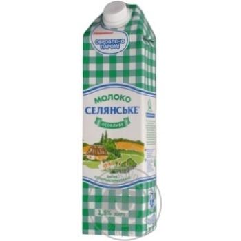 Молоко Селянское особенное суперпастеризованное 1.5% 1000г - купить, цены на Фуршет - фото 2