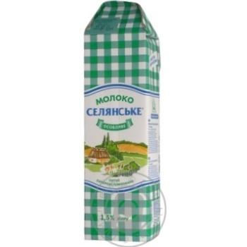 Молоко Селянское особенное суперпастеризованное 1.5% 1000г - купить, цены на Фуршет - фото 5