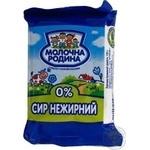 Cottage cheese Molochna Rodyna nonfat 0% 250g Ukraine