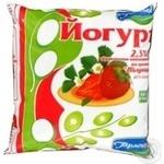 Yogurt Garmoniya strawberries with cream 2.5% 500ml sachet Ukraine