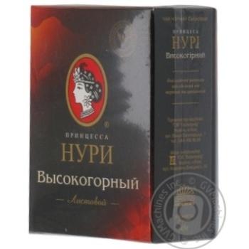 Чорний чай Принцеса Нурі Високогірний цейлонський байховий дрібнолистовий 45г Україна