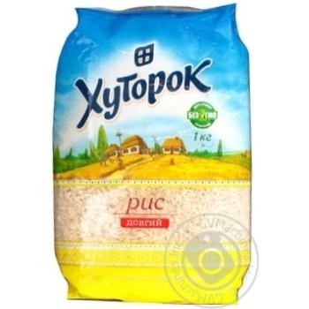 Рис Хуторок длиннозерный шлифованный 1000г Украина