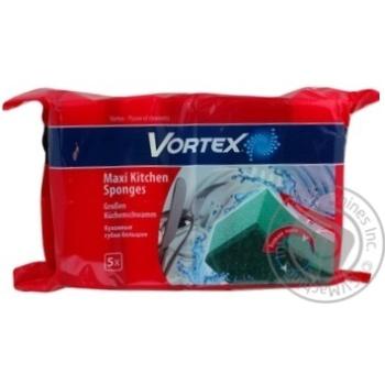 Губка кухонна велика Vortex 5шт - купить, цены на Novus - фото 3