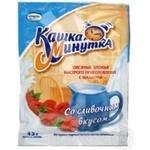 Хлопья овсяные Кунцево Кашка Минутка с малиной со сливочным вкусом быстрого приготовления 43г Россия