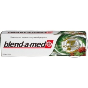 Зубная паста Blend-A-Med Комплекс Отбеливание + Природная свежесть Мята и эвкалипт 100мл - купить, цены на Ашан - фото 2