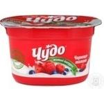 Йогурт Фреш чорниця-малина Чудо ваніль 120г