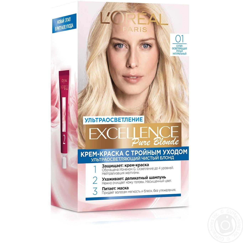 Купить 486, Краска для волос Loreal Excellence blonde 01 натуральний блонд, L'Oreal