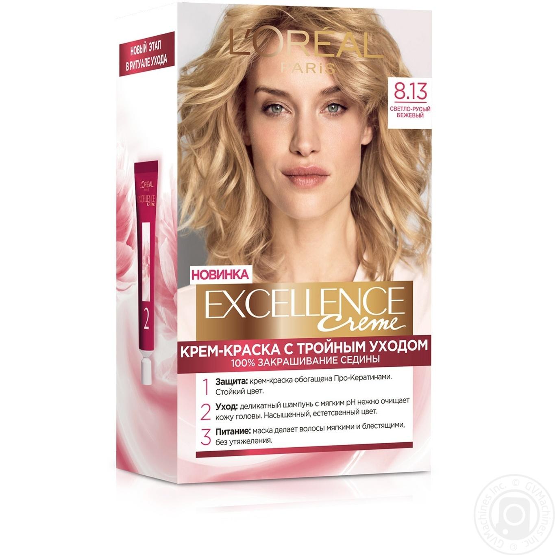 Купить 486, Краска для волос Loreal Excellence 8.13 светло-русый бежевый, L'Oreal