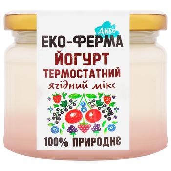 Йогурт Эко-Ферма Диво ягодный микс термостатный 2,5% 270г - купить, цены на СитиМаркет - фото 1