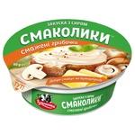 Закуска с сыром Тульчинка Вкусняшки жареные грибочки 55% 90г