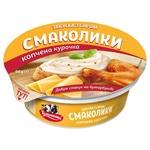 Закуска з сиром Тульчинка Смаколики копчена курка 55% 90г