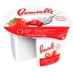 Сир кисломолочний Premialle Полуниця зернистий 7% 150г