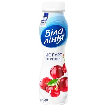 Йогурт Біла лінія Черешня 1,5% 250г - купити, ціни на Ашан - фото 1