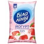 Йогурт Белая линия клубника 1,5% 900г