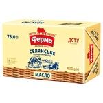 Масло Ферма Селянское сладкосливочное 73% 400г