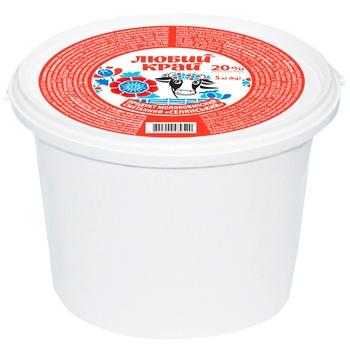 Lyuby Krai Sour Cream Product 20% 900g - buy, prices for Novus - photo 1
