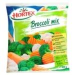 Смесь брокколи и цветной капусты Hortex быстрозамороженная 400г