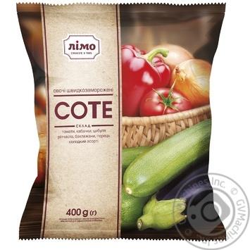 Овощная смесь Лимо Соте из 5-ти компонентов быстрозамороженная 400г - купить, цены на Фуршет - фото 1
