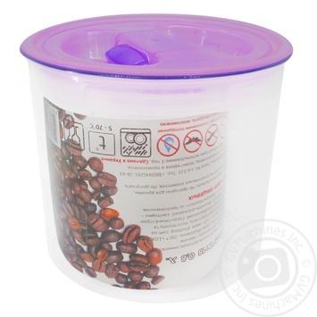 Контейнер для сыпучих продуктов Пластторг 0,8л цвет в ассортименте - купить, цены на Varus - фото 1