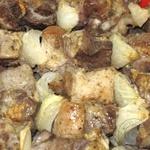 Шашлик зі свинини смажений