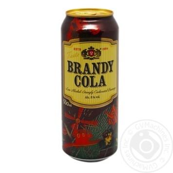 Low alcohol drink Obolon Brandy-Cola 8% can 0.5l