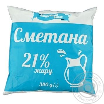 Сметана Молочный выбор 21% 380г - купить, цены на Фуршет - фото 1