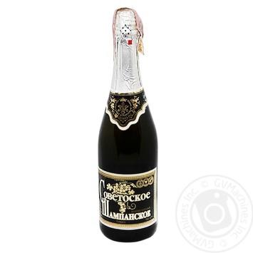 Вино игристое Фуршет Советское полусладкое 13,5% 0,75л