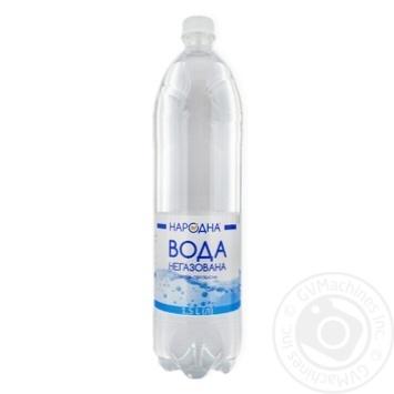 Вода Народна питна негазована 1,5л - купити, ціни на Фуршет - фото 1