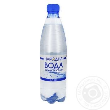 Вода питьевая сильно газированная Народная 0.5л - купить, цены на Фуршет - фото 1