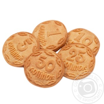 Печенье Бисквит-Шоколад Монетки - купить, цены на Фуршет - фото 1
