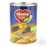 Папайя Tropic Life кусочки в сиропе 580мл