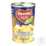 Тропический фруктококтейль Tropic life в сиропе 425мл