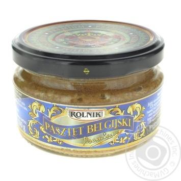Паштет Rolnik Premium Бельгийский 190г - купить, цены на Фуршет - фото 1