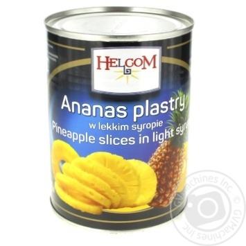 Ананасы Helcom кольцами в сиропе 580г - купить, цены на Фуршет - фото 1