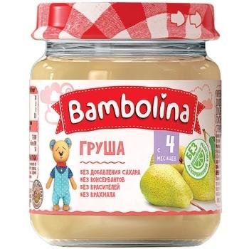 Bambolina Pear Puree 100g
