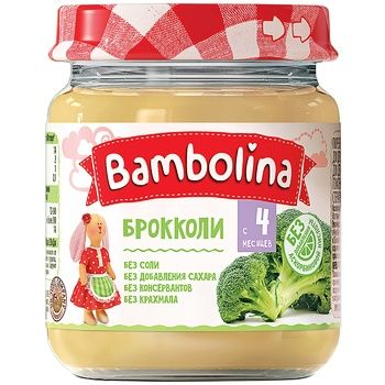 Пюре Bambolina брокколи 100г - купить, цены на СитиМаркет - фото 1