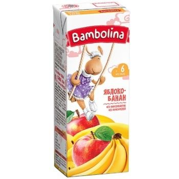 Bambolina Juice Apple-banana 200ml - buy, prices for CityMarket - photo 1