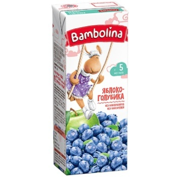 Нектар Bambolina Яблуко-лохина 200мл - купити, ціни на CітіМаркет - фото 1